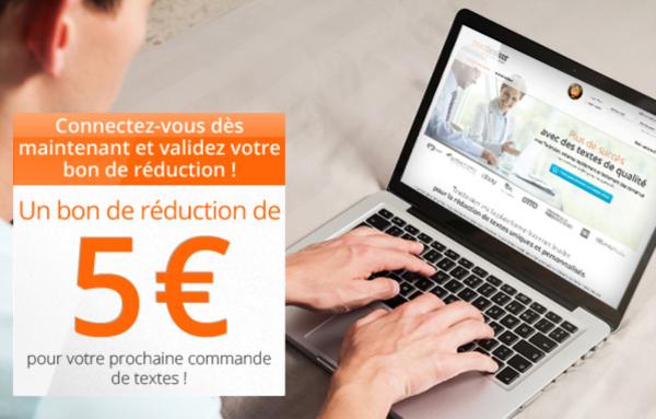 Code Promo Textbroker : 5 euros offerts