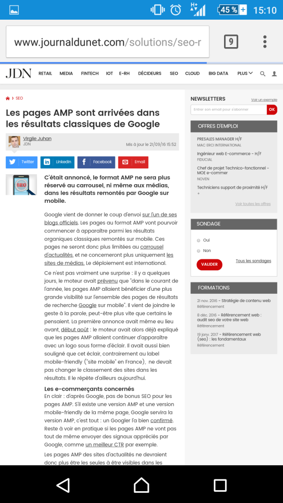 plugin AMP site wordpress, comment ça marche sur google