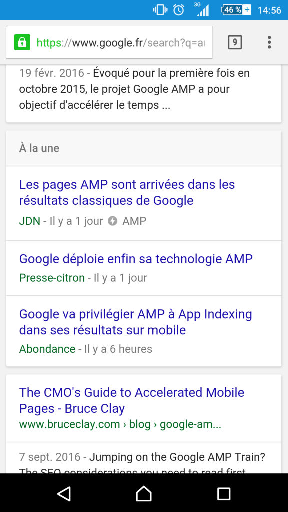 Plugin AMP site wordpress résultat SEO