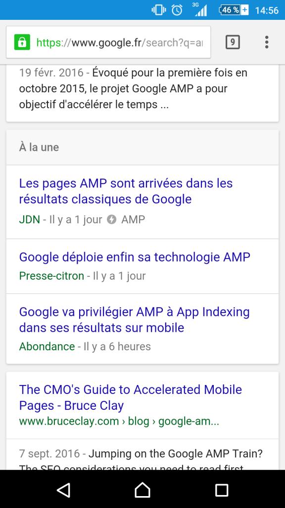 Plugin AMP site wordpress résultat SEO