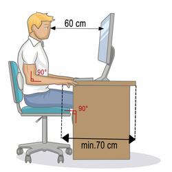 bonne posture de travail devant un ordinateur