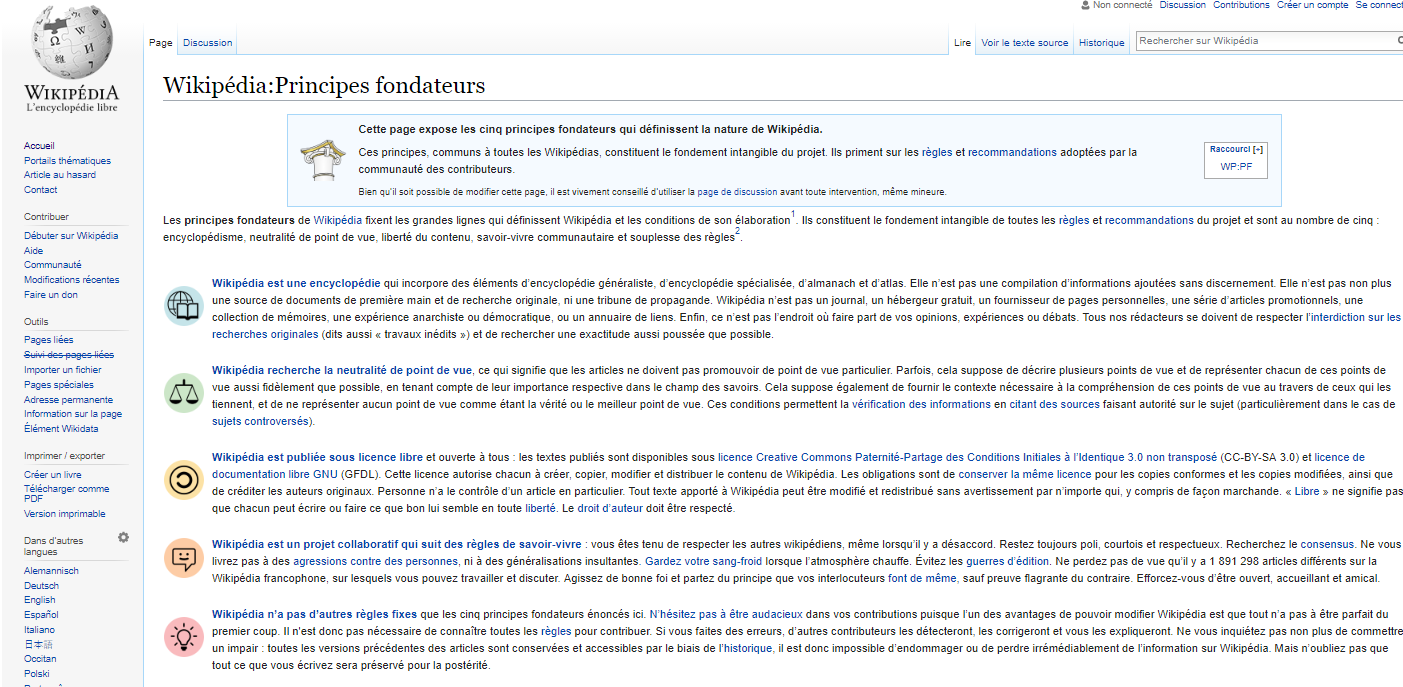 Les règles pour créer ou modifier un article Wikipedia