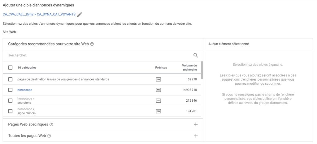 Tutoriel pour Optimiser ses Dynamic Search Ads. Etape 1 : Segmenter ses annonces dynamiques Adwords (Dynamic Search Ads = DSA)