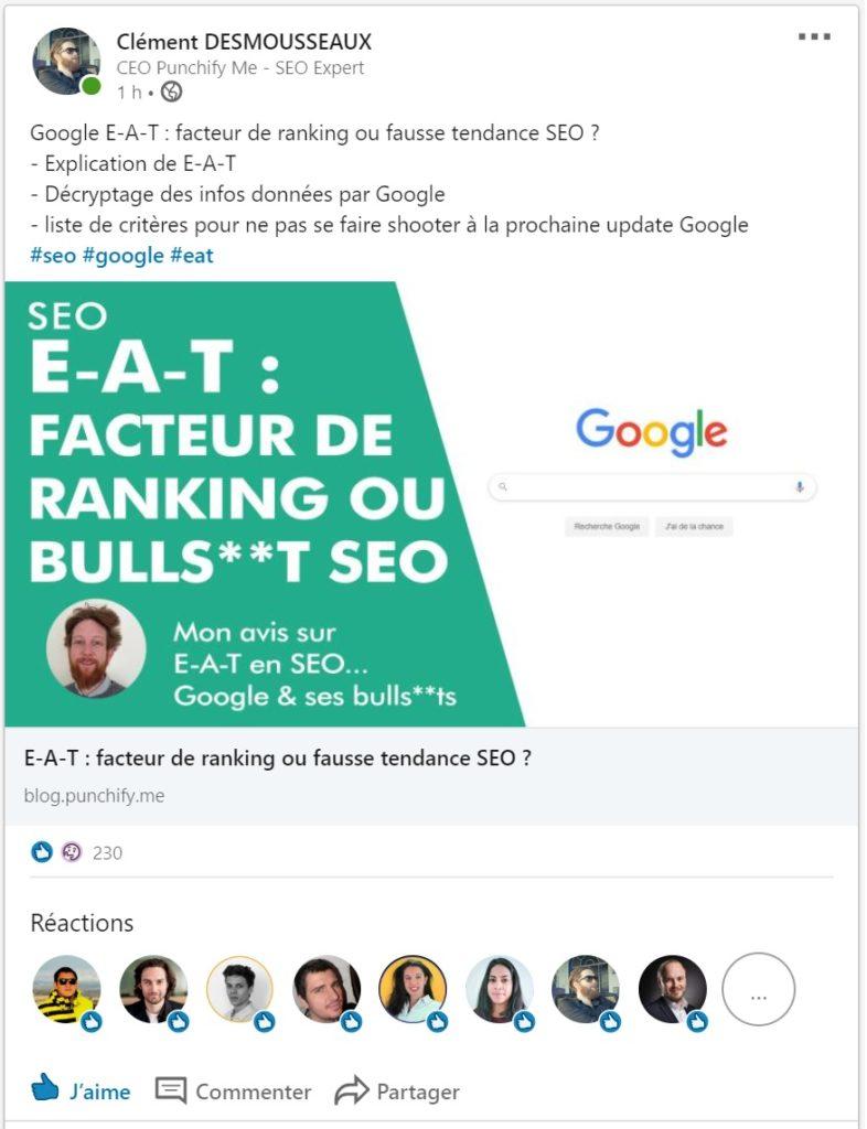 POD Linkedin français - POD linkedin SEO france