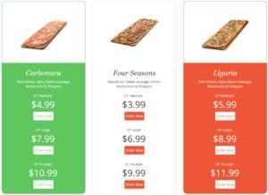 Pricing Table par Supsystic