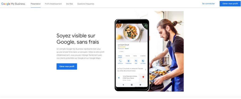 SEO Local : créer un compte Google My Business