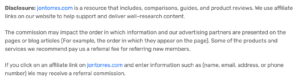 disclose affiliate links