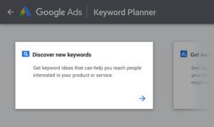 Planificateur de mots-clés Google