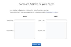 Comparer deux pages Web