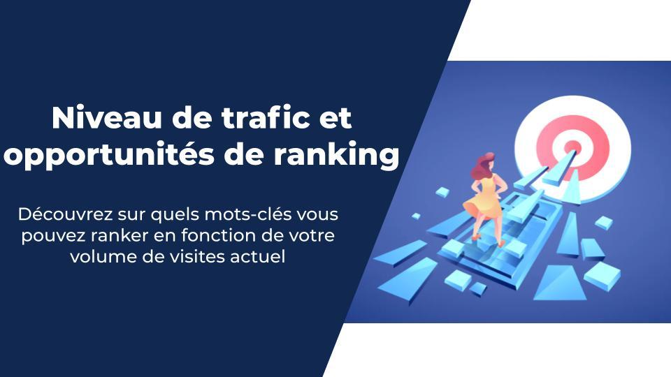Niveau de trafic et opportunités de ranking